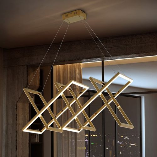 Schuller Limus 753319 LED 5 Light Ceiling Pendant Gold