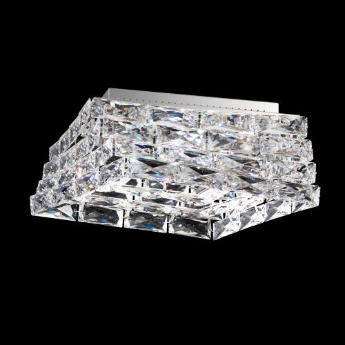 Swarovski STW710 Glissando LED Crystal Flush Light Stainless-Steel Frame