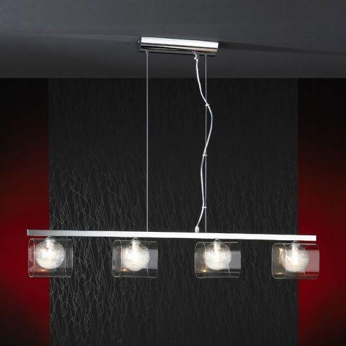 Schuller Eclipse 506514 Bar Ceiling Pendant 4 Light Chrome