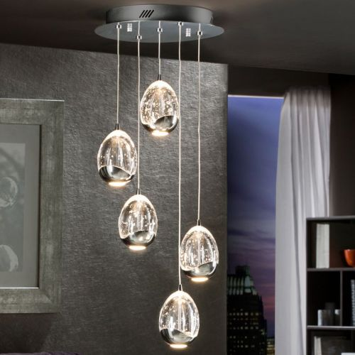 Schuller Rocio 783517 LED Ceiling Pendant 5 Light Chrome