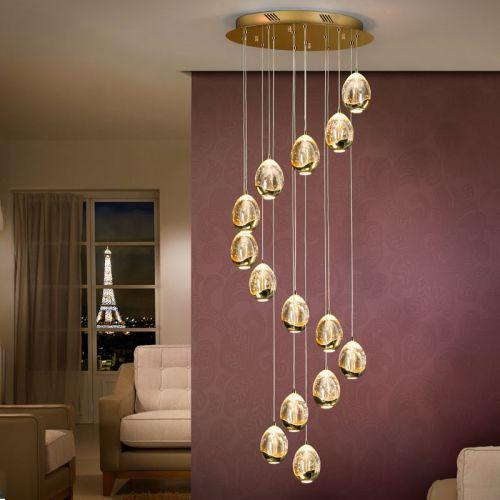 Schuller Rocio 785648 LED Ceiling Pendant 14 Light Gold