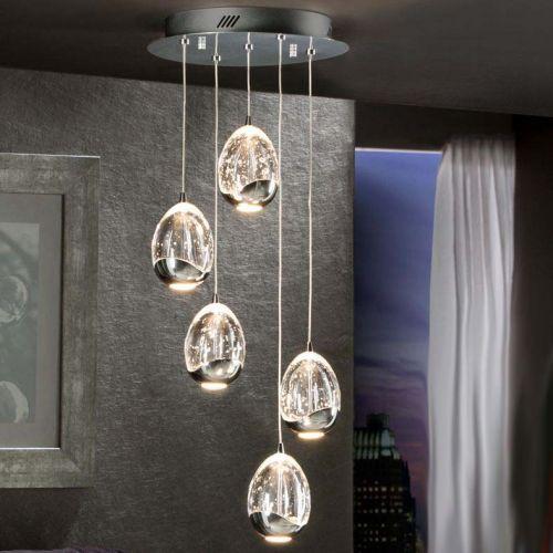 Schuller Rocio 783517D LED Ceiling Pendant 5 Light Chrome