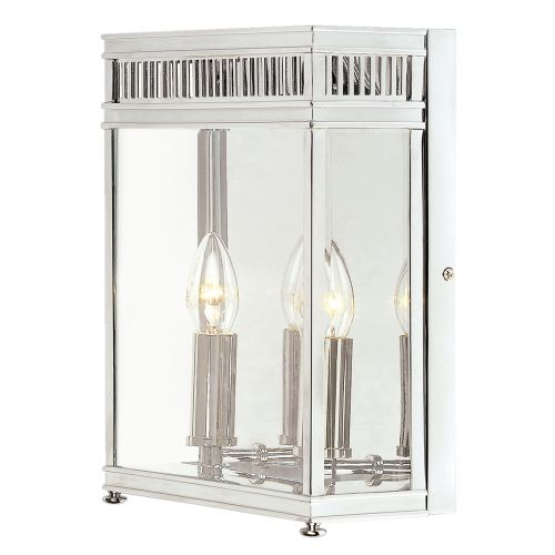 Elstead Holborn 2 Light Outdoor Wall Lantern HL7/M PC Polished Chrome