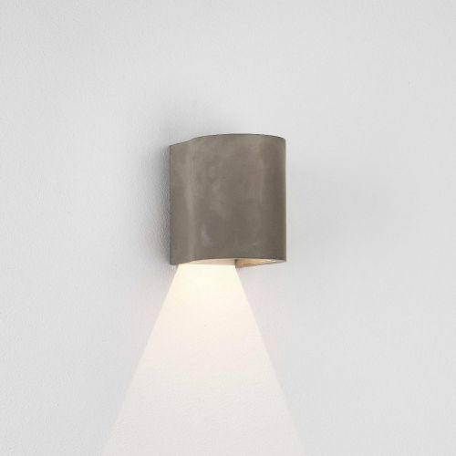 Astro Dunbar 1384019 LED Outdoor Coastal Wall Light Concrete