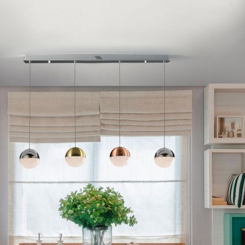 Schuller Sphere 793659 LED Bar 4 Light Ceiling Bar Pendant 1.2 Metre Drop Multicoloured