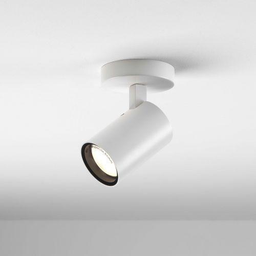 Astro Aqua 1393001 Ceiling Flush Single Spotlight Matt White