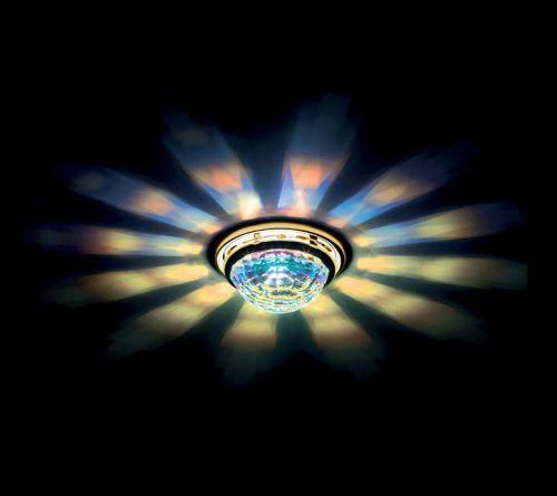 Swarovski A8992NR030010ABZ Vega Swarovski Aurora Borealis Crystal Spotlight Gold Plated Frame
