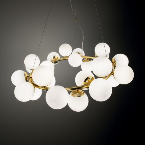 Ideal Lux 208398 DNA 25 Light Ceiling Pendant Gold Frame