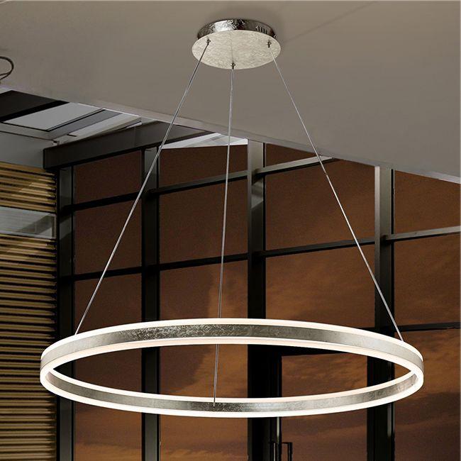 Corbett Lighting Nexus Silver Leaf Eight Light 28'' Wide LED Chandelier