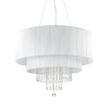 Ideal Lux 165011 Opera Crystal 10 Light Pendant Polished Chrome Frame
