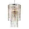 Glass Pendant Chandelier 9 Light Polished Nickel Hudson Valley Fenwater 9418-PN-CE