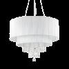 Ideal Lux 165011 Opera Crystal 10 Light Pendant Polished Chrome Frame