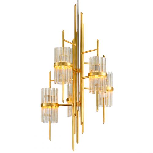 Corbett Symphony Ceiling Pendant 5 x E14 Gold Leaf 257-75-CE