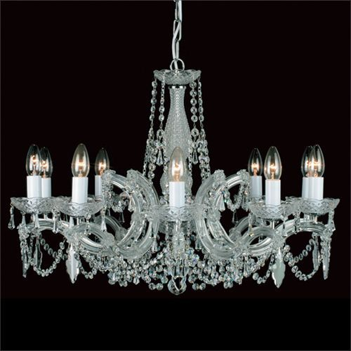Impex Maria Therese 10 Light Crystal Chandelier CP00150/10/CH