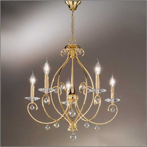 Kolarz 0232.85.3.KpT Carat 5 Arm 24Ct Gold Kolarz Crystal Chandelier