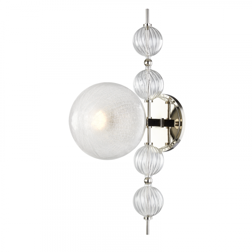 Hudson Valley Calypso Wall Light 1 x E27 Polished Nickel 6400-PN-CE