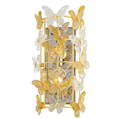 Corbett Milan Wall Light 2 x E14 Gold Leaf 279-12-CE