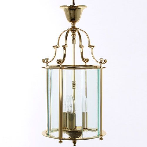 Impex LG/07000/09/PB Colchester 3Lt Polished Brass Indoor Lantern