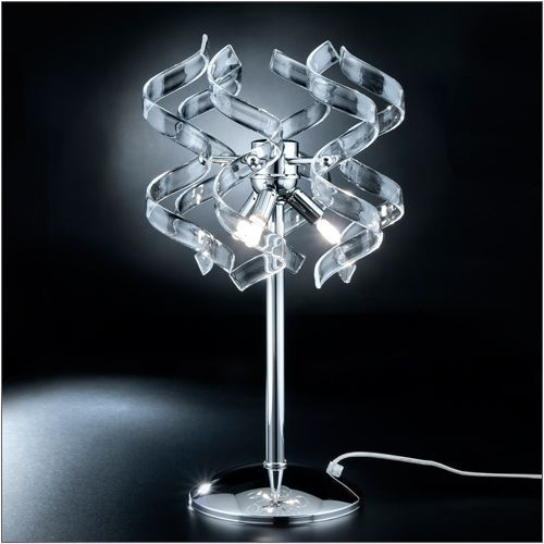 Metal Lux Astro Crystal Glass Polished Chrome Table Lamp 206.123.01