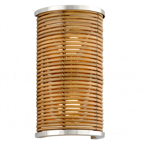 Corbett Carayes Wall Light 2 x E14 Rattan / Steel 277-12-CE