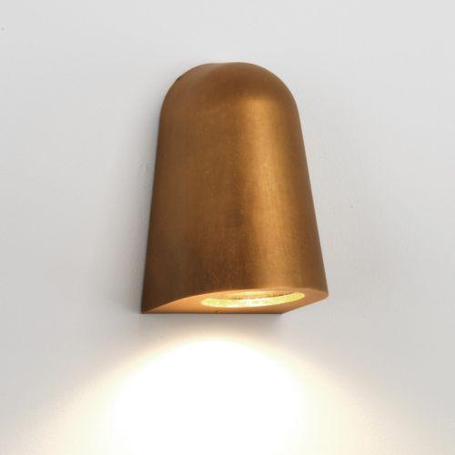 Astro Mast 1317003 Single Outdoor Wall Spotlight Antique Brass