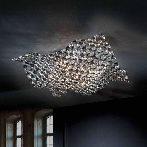 Schuller Saten 160674 Ceiling Flush 5 Light Fitting Chrome