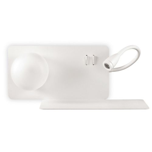 Ideal Lux Book 174822 LED Twin Wall Light White