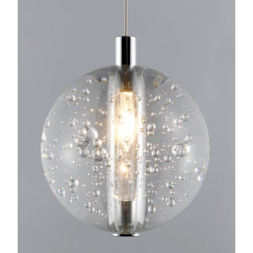 Avivo Bubbles PD1302-1A CH/CL 1 Light Pendant Chrome Clear Glass Ceiling Fitting