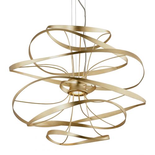 Corbett Calligraphy Ceiling Medium 87cm LED Pendant Gold Leaf 216-43-CE