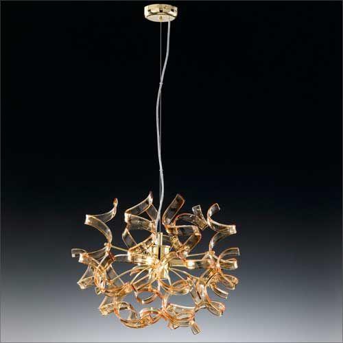 Metal Lux Astro 3 Light Amber Pendant 205.140.06