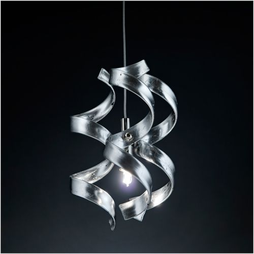 Metal Lux Astro Single Silver Leaf Pendant 206.511.15