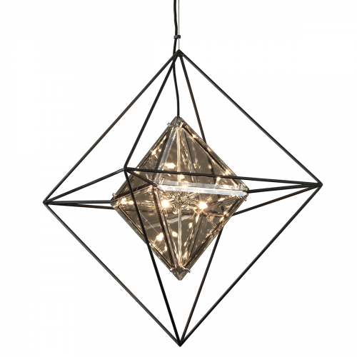 Troy Epic Ceiling Medium Pendant Light 6 x G9 3.75m Forged Iron F5326-CE