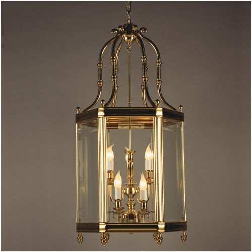 Impex LG00024/09/PB Regal 9 Light Indoor Lantern Cast Brass