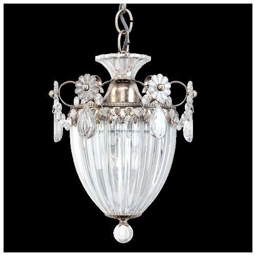 Schonbek 1241EH-48 Bagatelle Heritage Crystal 1 Light Pendant Antique Silver Frame