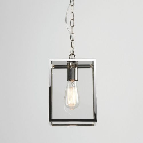 Astro Homefield Pendant 240 1095019 Outdoor Ceiling Pendant 1 Light Polished Nickel