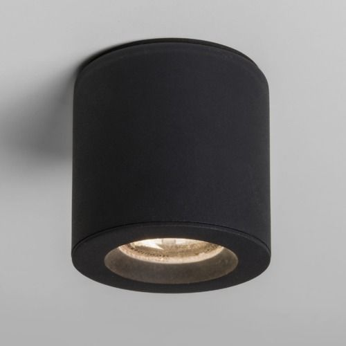 Astro 7495 Kos Round LED Textured Black Outdoor Ceiling Spotlight