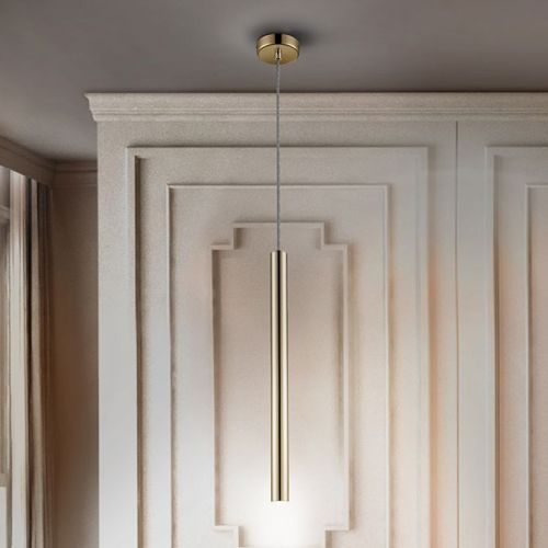 Schuller Varas 373091 LED 1 Light Ceiling Pendant Gold Frame