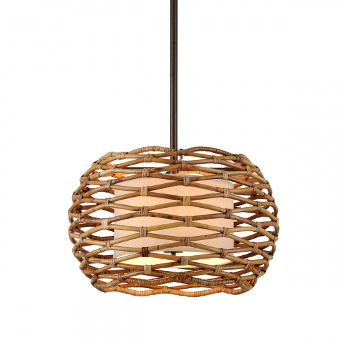 Troy Balboa Ceiling Medium Pendant 6 x E14 Bronze F6747-CE