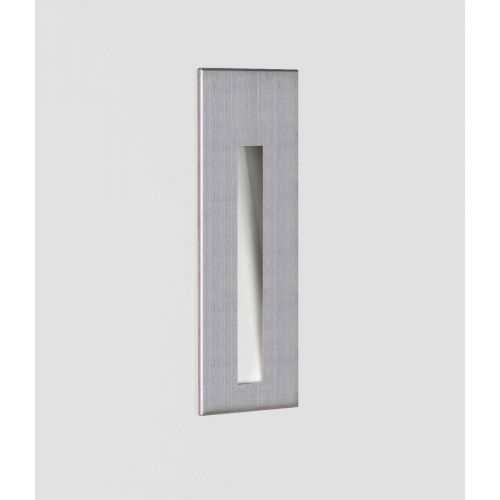Astro 1212044 Borgo 55 LED Recessed Wall Light Brushed Stainless Steel Frame