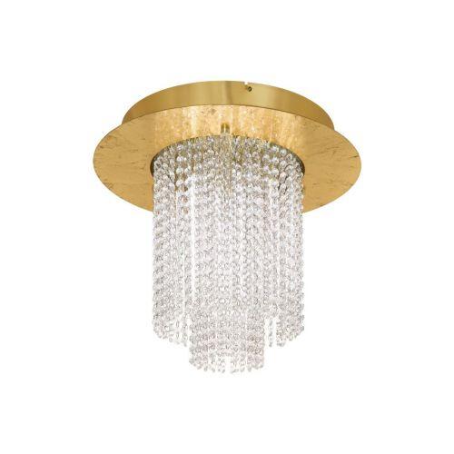 Eglo Vilalones 39398 LED Crystal Ceiling Flush 1 Light Gold