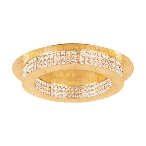 Eglo Principe 39406 LED Large Crystal Ceiling Flush 1 Light Gold