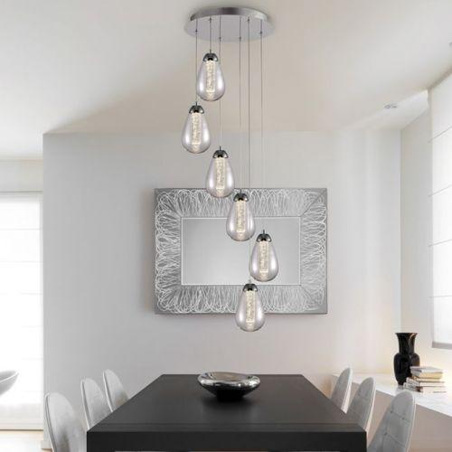 Schuller Taccia 394529 LED Ceiling Pendant 6 Light Chrome