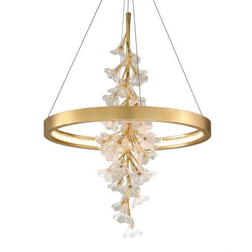 Corbett Jasmine Ceiling Medium Pendant LED Gold Leaf 268-71-CE