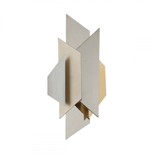 Corbett Modernist Wall Light 1 x E14 Silver / Gold Leaf 207-11-CE