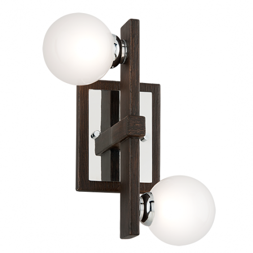 Troy Network Wall Light 2 x G9 Forest Bronze B6072-CE