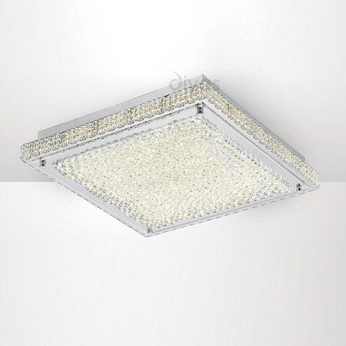 Diyas IL80072 Amelia Flush Ceiling Light 21W 1700lm LED 4000K Stainless Steel Crystal