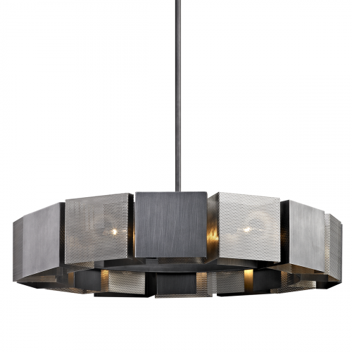 Troy Impression Ceiling Large Pendant 14 x E14 Graphite F6046-CE