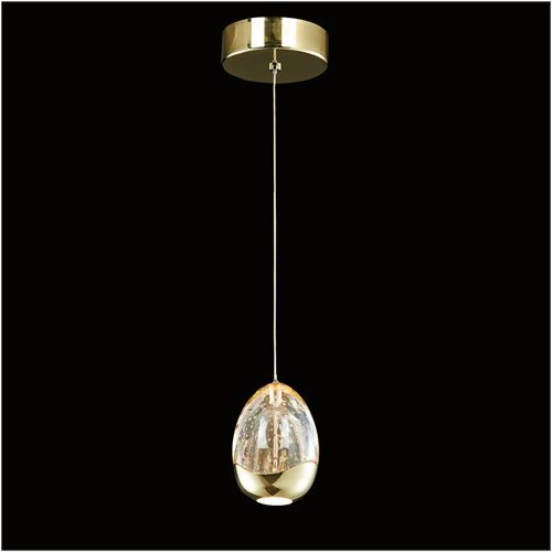 Illuminati Terrene MD13003023-1A GOL 1Lt LED Pendant Gold