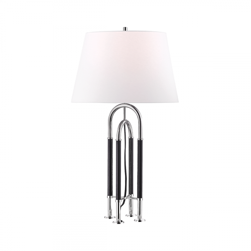 Hudson Valley Arnett Table Lamp with Shade1xE27Polished Nickel L1132-PN-CE