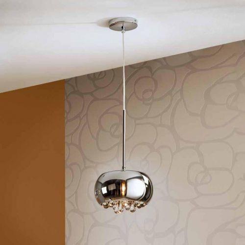 Schuller Argos 509010 Ceiling Pendant 1 Light Chrome